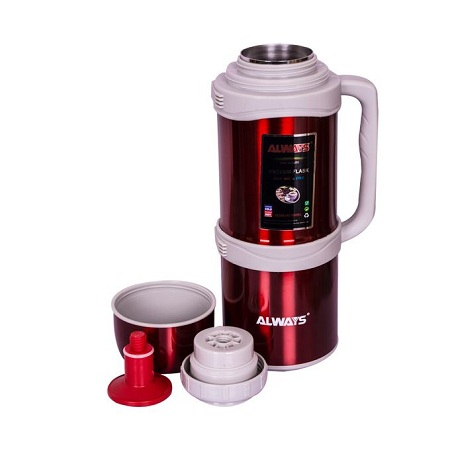 Always Stainless Steel Thermos Flask Jug - 3 Litres - Red