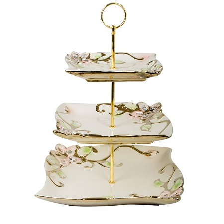 Generic 3 Layers Cake Plates Kitchen Storage Trays