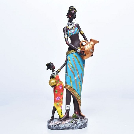 Generic African Woman Ornament - Black