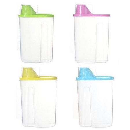 Generic Cereal Dispenser Storage Container, 1.9L - 4 Pcs
