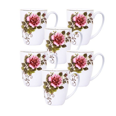 Generic Fashionable Bone China Tea/Coffee Cup - 6pcs