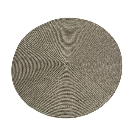Generic Grey Woven Round Table Mat