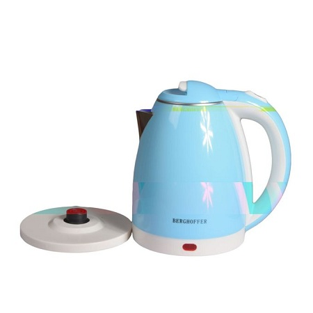 Generic Kettle (Electric) - 2L - Cordless - Green & White.