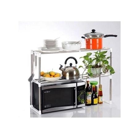 Generic Microwave Oven Shelf Rack - Silver