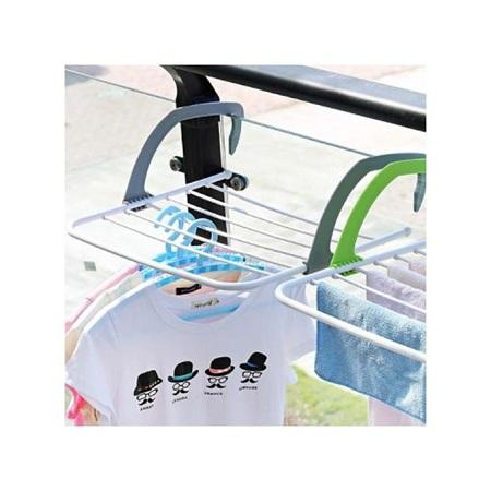 Generic Multifunctional Foldable Indoor Outdoor Balcony Telescopic Shelf Drying Racks gray