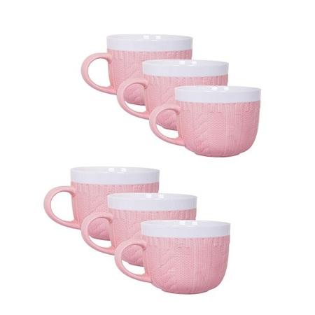Generic Sweater Soup Mug Pink,500ml