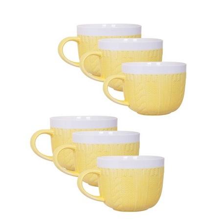 Generic Sweater Soup Mug Yellow,500ml