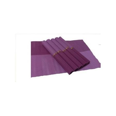 Generic Table Mat 6 Pcs - Purple