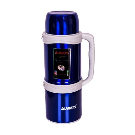 Always Stainless Steel Thermos Flask Jug - 3 Litres - Blue