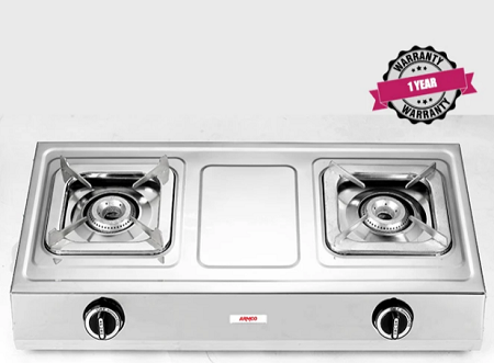 ARMCO GC-8250P2 - 2 Burner Tabletop Gas Cooker, FREE 2M Pipe, Stainless Steel.
