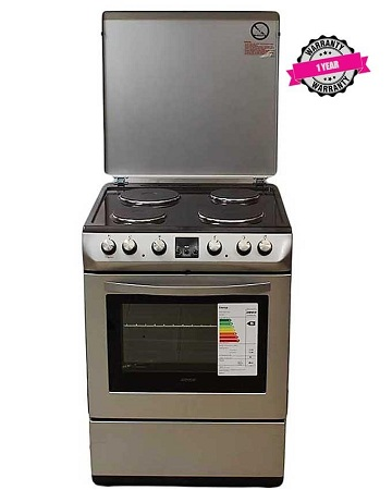 ARMCO GC-F6604LX2(SL) - 4 Electric, 2 Rapid Plates, 60X60 Cooker, Child Lock, Silver.