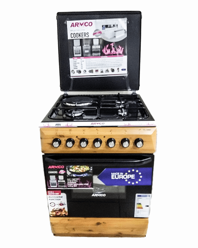 ARMCO GC-F6631FX(WD) - 3 Gas, 1 Electric, 60x60 Gas Cooker.