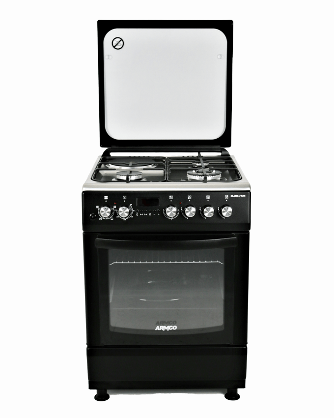 ARMCO GC-F6631ZX2(SL) - 3 Gas(1 WOK), 1 Electric, 60x60 Gas Cooker.