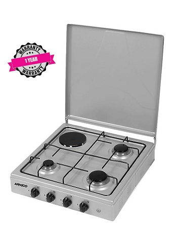 ARMCO GC-F8431GX(SS) - 3Gas, 1 Electric, 60X60 Table Top Gas Cooker, Stainless Steel.