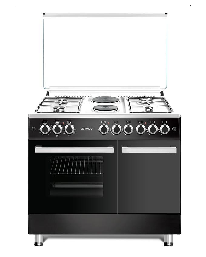 ARMCO GC-F9642FBT(BK) - 4 Gas, 2 Electric (RAPID), 60x90 Gas Cooker.