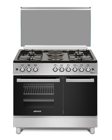 ARMCO GC-F9642FBT(SL) - 4 Gas, 2 Electric (RAPID), 60x90 Gas Cooker.