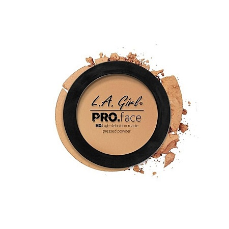 L. A. Girl HD Pro Face Matte Pressed Powder - Medium Beige, 0.25 Oz
