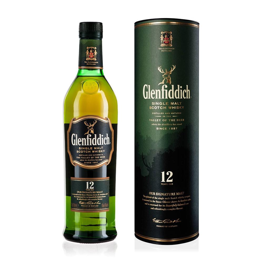 Glenfiddich 12 Years Single Malt Scotch Whiskey - 1 Litre