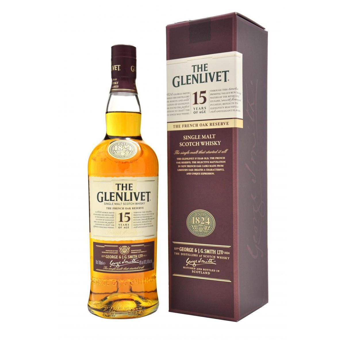 The Glenlivet 15 Year Old French Oak Reserve Whisky - 700ML