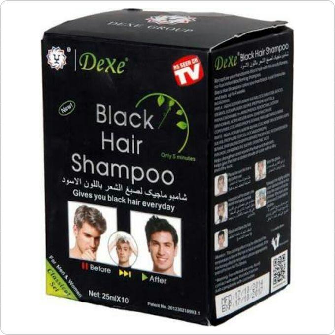Dexe Black Hair Shampoo - 10 x 25 ml sachets