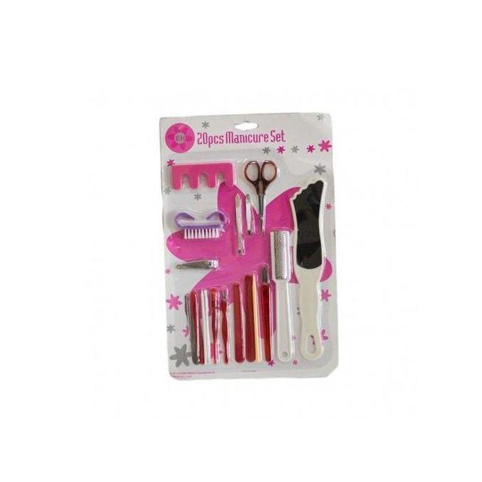 Generic Manicure Pedicure Set - 20pcs Manicure Pedicure Kit