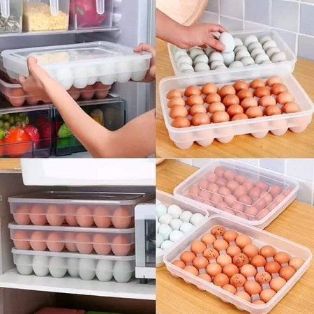 34 Pieces Egg Tray Holder With A Lid