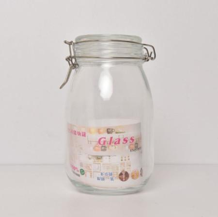 Glass Jar With Air Tight Lids & Metal Lock