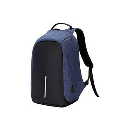Anti-theft USB Charging Port Laptop Backpack - Blue