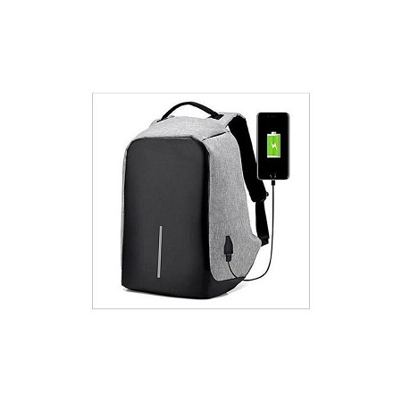 Anti-theft USB Charging Port laptop Backpack - Grey