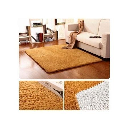 Fluffy carpets - 5x7 - Brown