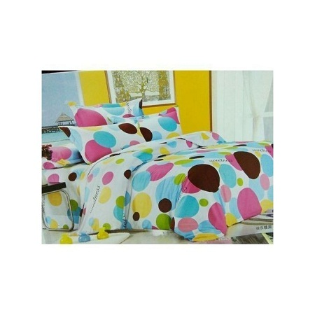 Glamorous Quality Duvet - Multicolored with a 1 Bed sheet,2 pillows