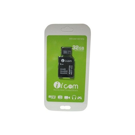 Icom Etreme High Compatibility Micro SD Memory Card TF With Adapter - 32GB - Black