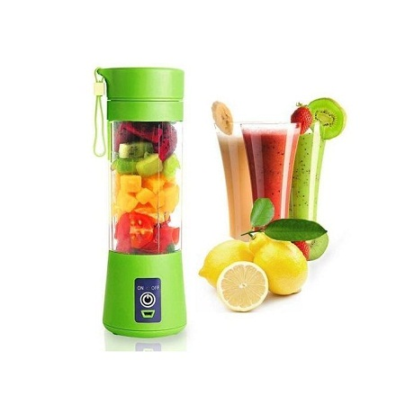 Juicer Portable Blender Juicer,Mixer,USB Rechargeable, 380ml-Green