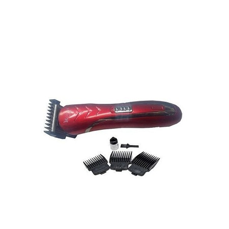 Professional Hair Clipper Rechargeable Shaver - Red
