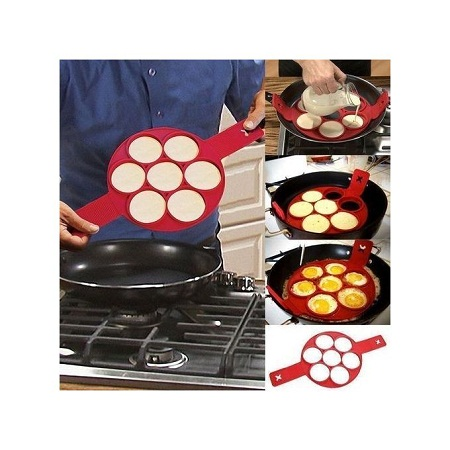 Silicone pancake flipper-red