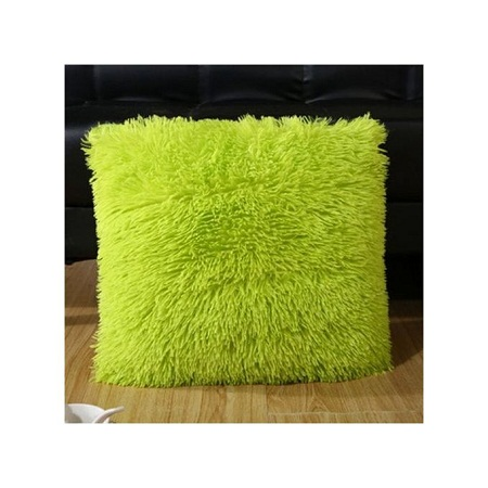 Soft Decorative Pillows for Sofa Fluffy Pillow Case Throw Cushion Cover Decor Green