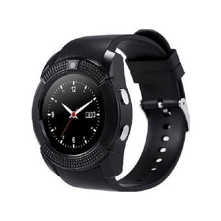 V8 Smart Wrist Watch Bluetooth Calling Sleep Monitor Anti-Lost For IOS Android-Black