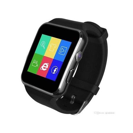 X6 Smartwatch with Bluetooth,Sim & Memory card slot- Black