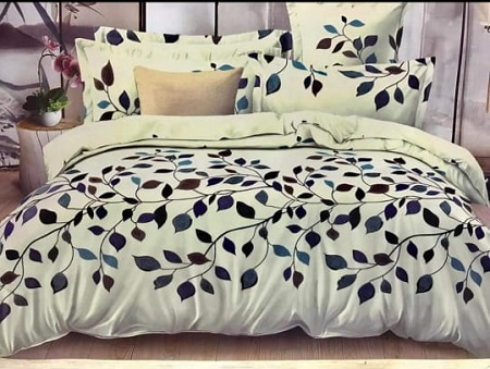 4 Pieces Cotton Duvet Set - Multicolored with Flower Print