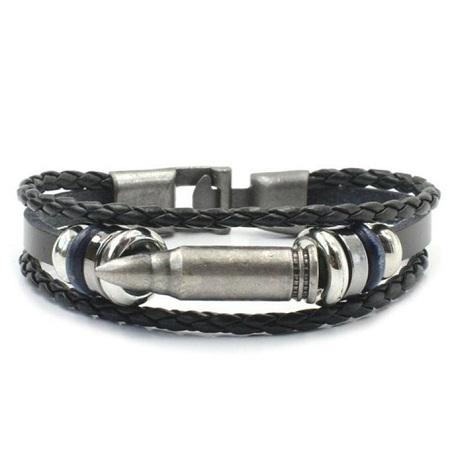 Fashion Bullet Style Bracelet - Black