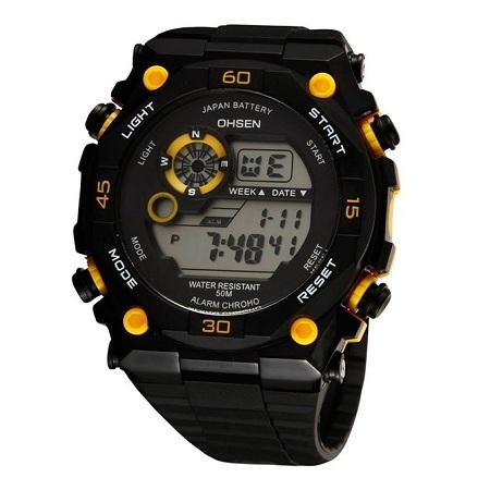 Ohsen Mens Sport Watch - Black
