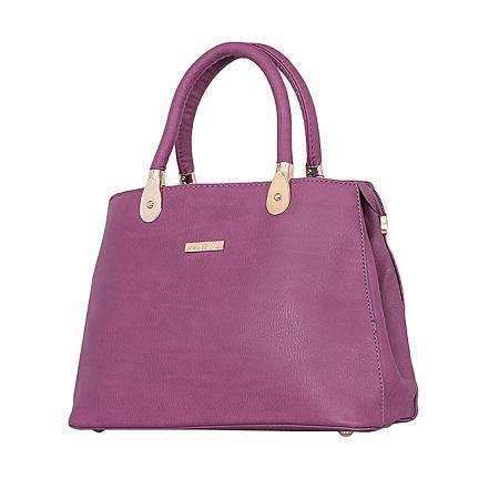 Purple PU Leather Hand Bag