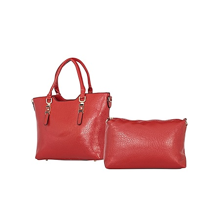 Red 2 In 1 PU Leather Hand  Bag