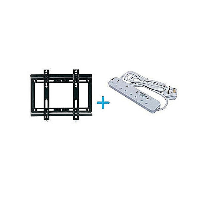 Generic Wall Mounting Bracket for 14 - 42 TV + Free Heavy Duty Power Extension