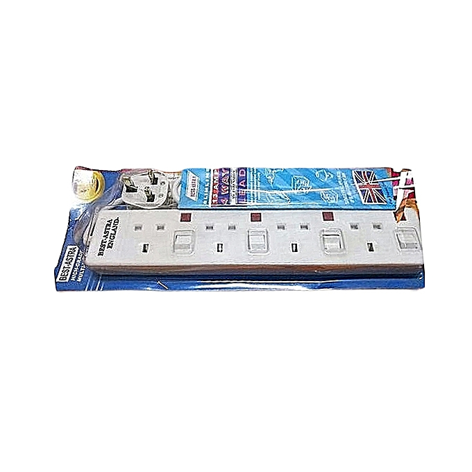 Generic 4 Way Power Extension-white