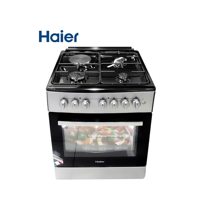 Haier HCR2040GESB 3Gas + 1Electric With Electric Oven - Grey