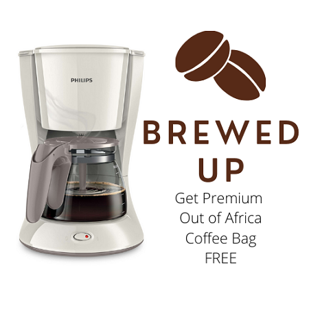 Philips Daily Collection Coffee Maker HD7447 Premium Coffee bag Free