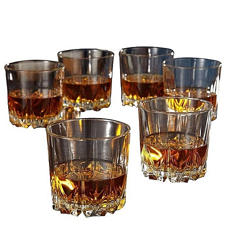 Whiskey Glass Set -6 Pieces -Clear