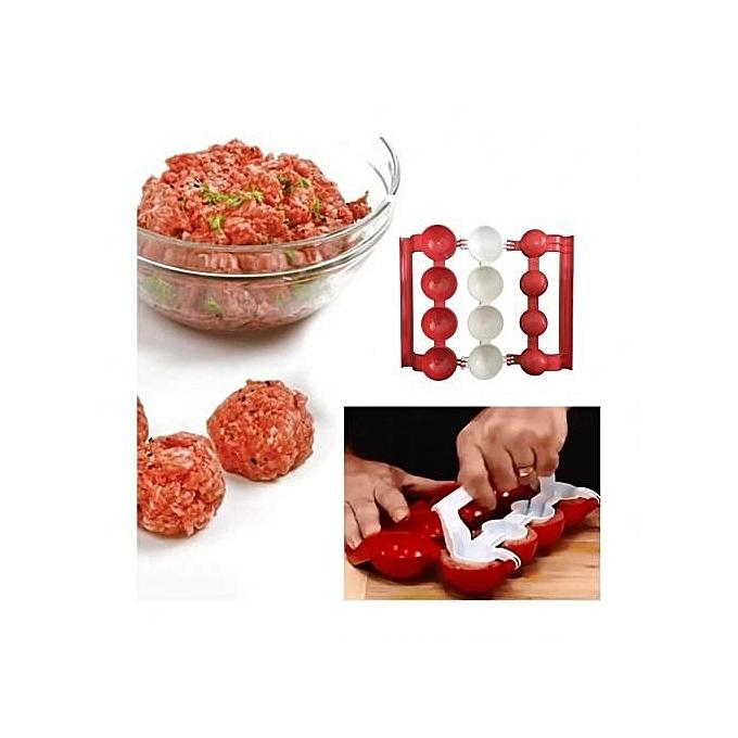 Meatball Maker-Red & White
