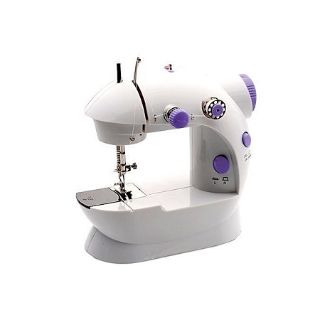Sewing Machine, Mini Portable Electric Sewing Machine with Low/High Speed, Double Thread, Foot Pedal, Perfect for Household and Beginner